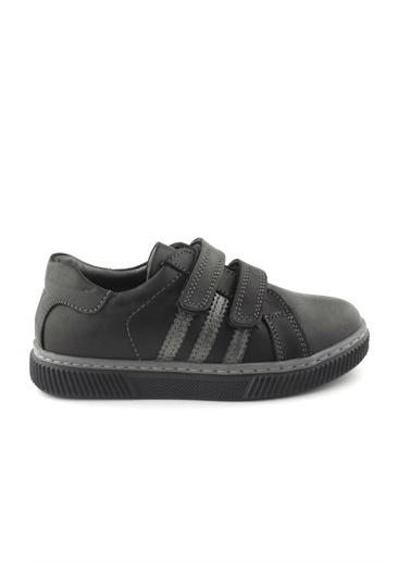 Cicibebe Deri Havuzlu Erkek Çocuk Ayakkabısı Siyah